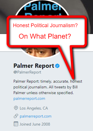 Palmer Report twitter page