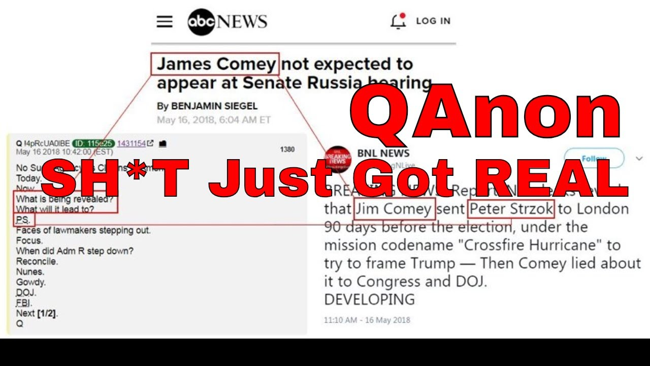 Q Anon: Sh*t Just Got Real