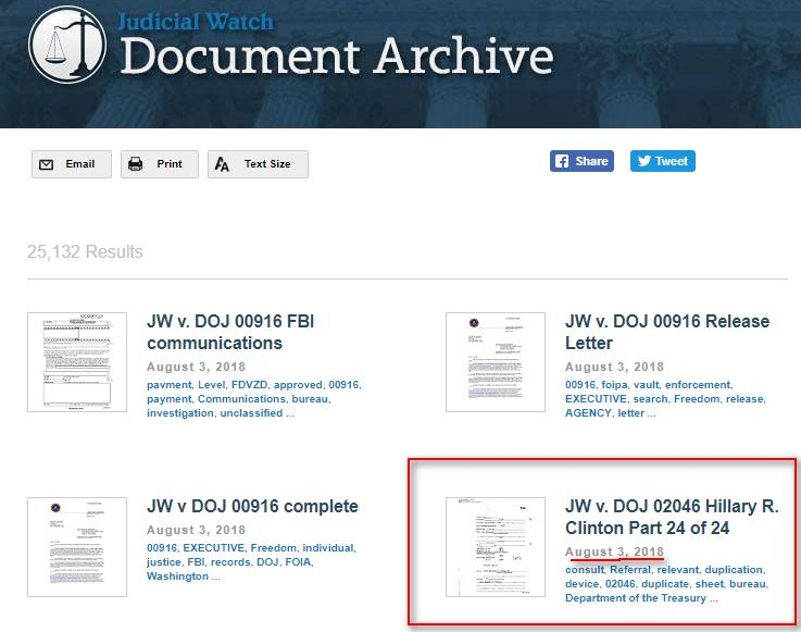 Document Archive - Judicial Watch