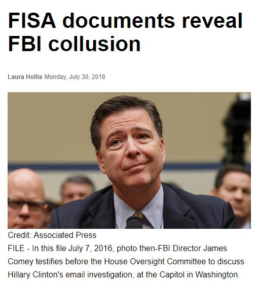 FISA documents reveal FBI collusion _ Boston Herald