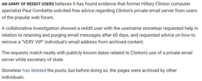 Paul Combetta, Computer Specialist Who Deleted Hillary Clinton Emails, May Have Asked Reddit for Tips _ National News _ US News